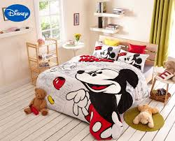 Mickey Mouse Bed Sets Mickey Mouse Print Flannel Comforter Bedding Sets