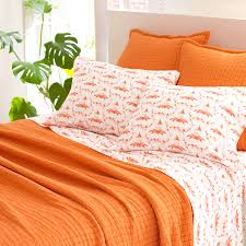 Coverlet Matelasse District17 Boyfriend Orange Matelasse Coverlet Quilts