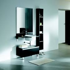 enchanting black wooden bathroom cabinets design idea feat