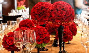 lovely grouping of rose centerpieces b lovely events