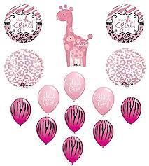 cheetah baby shower it s a girl giraffe zebra cheetah baby shower balloons
