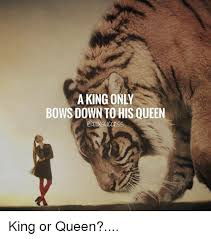 King And Queen Memes - a king only bows down to his queen oxsiccess king or queen meme