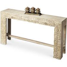 mango wood console table butler specialty 2069290 artifacts console table in white recycled