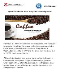 Pumpkin Frappuccino Starbucks Caffeine by Online Starbucks Powerpoint Template And Presentation Authorstream