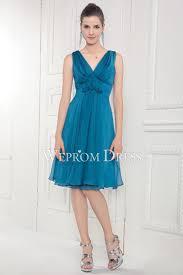 v neck blue design your own bridesmaid dress