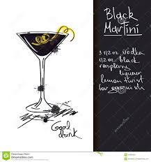 martini illustration illustration with black martini cocktail royalty free stock images