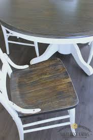 Farmhouse Style Painted Kitchen Table And Chairs Makeover What - Painting kitchen table