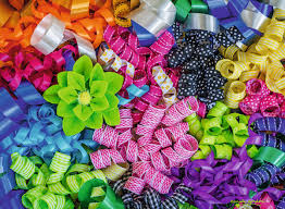 colorful ribbon colorful ribbons jigsaw puzzle puzzlewarehouse