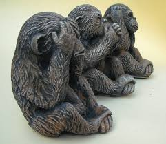 3 wise monkeys garden ornament finished low price