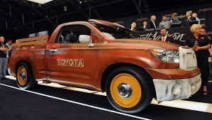 nissan tundra custom custom toyota tundra pickup raises 100 000 for charity auto