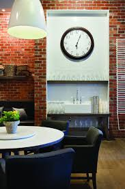 clock on clean and modern cafe with home style design home