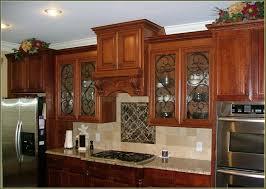 rectangle dark brown textured wood modern island glass front
