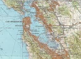Presidio San Francisco Map soviet map of san francisco 1980 1000x733 mapporn