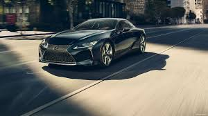 lexus lc wallpaper 2018 lexus lc black on road in city 4k hd wallpaper latest cars
