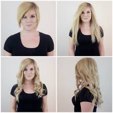 Blonde Weft Hair Extensions by Gorgeous Before And After Hair Transformation Achieved With