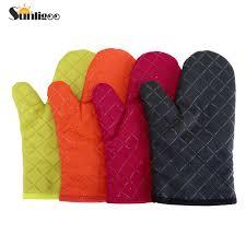 gants cuisine sunligoo 2x coton épaissir four mitaines cuisine manique gants