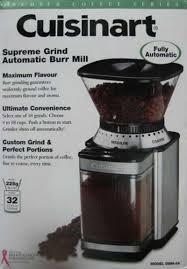 Cuisinart Dbm 8 Coffee Grinder Cuisinart Supreme Grind Automatic Burr Mill Dbm 8 Jual Gilingan