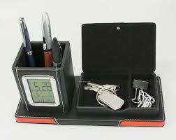 very impressive portraiture of clock w pen holder storage compartment china whole desk clock
