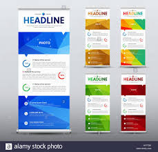 vertical roll up banner design a business brochure template with