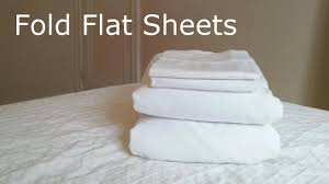 how to fold flat sheets by yourself youtube