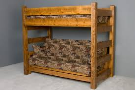 futon barnwood bunk beds generation log furniture