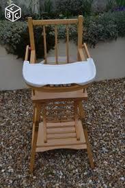 chaise haute b b occasion chaise haute bois bebe clasf