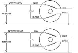 reversible single phase 3 wire motor