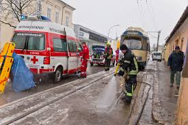 Spital Baden Person Geriet In Baden Unter Badner Bahn Garnitur Monatsrevue