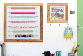 wrapping paper station diy gift wrap station my frugal adventures
