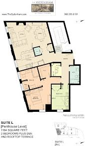 Floor Plans For Bedroom With Ensuite Bathroom The Sydenham 2 Bedroom Den Rooftop Terrace U2013 New Floor Plan