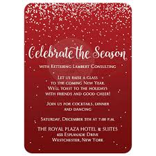 holiday party invitation 2 celebrate the season red silver