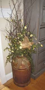 Twig Home Decor Large Rusty Milk Can Comes Complete With Tiny White Rice Lights