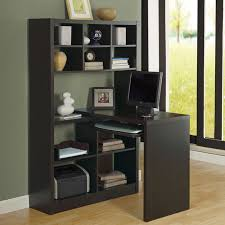 desk with shelves on side this reversible desk is built with large open storage space and