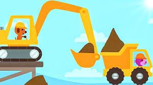 cartoons digger for children excavator and truck sago mini