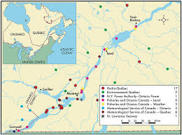 st seaway map changes in water levels and flows in the st river plan