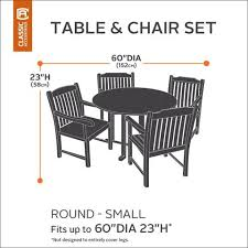 Classic Accessories Patio Furniture Covers by Classic Accessories Hickory Heavy Duty Round Table And Chair