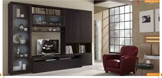 Modern Wall Unit St 3000 Wall Unit In Wenge Finish By Mcs Furniture Made In Italy