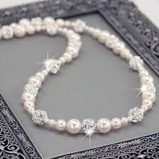 pearls swarovski necklace images Coin pearl dangle earrings pearl bridal jewelry swarovski jpg