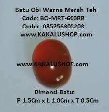 Obi Teh batu obi warna merah teh www kakalushop