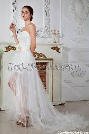 high to low wedding dress strapless high low wedding dresses 2013 with front split img 1679
