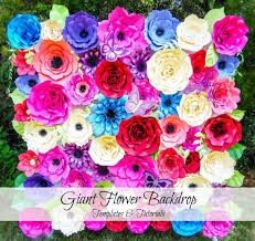 flower backdrop paper flowers flower backdrop paper flower templates