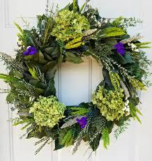 hydrangea wreath dried flower wreath indoor wreath large wreath