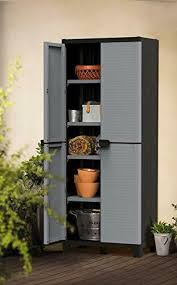 kitchen storage cabinets with doors and shelves 227138 keter storage cabinet with doors shelves for garage