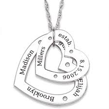 Necklaces With Names Engraved Jeulia Engraved Name Family Necklace Sterling Silver Gemstonepro Com