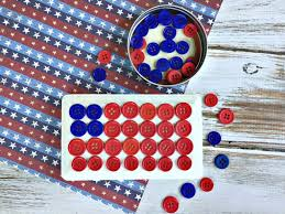 4th of july crafts easy kids united states button flag