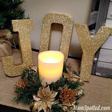 Gold Glitter Christmas Decorations by Make Your Own Gold Glittery Christmas Letter Decorations