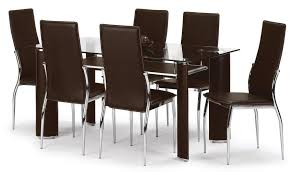 Black Glass Extending Dining Table 6 Chairs 20 Photos Glass Dining Tables With 6 Chairs Dining Room Ideas