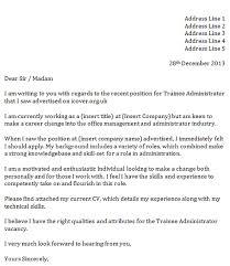 trainee administrator cover letter u2013 cover letters and cv examples