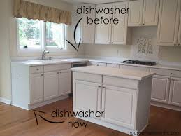 outside corner kitchen cabinet ideas creating a wrap around cabinet moving the dishwasher