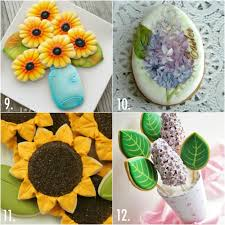 twenty decorated flower cookie tutorials for mother u0027s day u2013 the